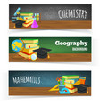 Science classes headers vector image