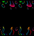 seamless pattern neon abstract colored liquid vector image vector image