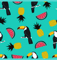 seamless summer pattern with toucan birds vector image vector image