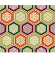 seamless traditional japanese pattern vector image