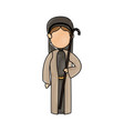 shepherd with stick manger character image vector image vector image