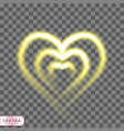 shining heart realistic on transparent vector image