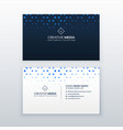 simple business card design with triangle shapes vector image vector image