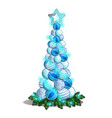 sketch with a bunch christmas glass balls in vector image vector image