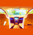 smart car inside interior vector image vector image