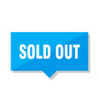 sold out price tag vector image vector image