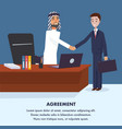 two men reached to general agreement vector image