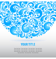 water curles background vector image vector image