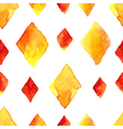 Watercolor rhombus seamless pattern vector image vector image