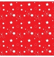 White Stars on a Red Background Seamless Pattern vector image