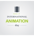 World animation day October 28 vector image vector image