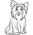 yorkshire terrier dog coloring book vector image vector image