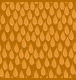 seamless pattern with orange scales vector image