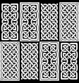 celtic style endless knot tile vector image