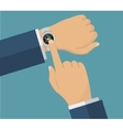 Human hand with smart watches Operation with vector image