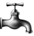 Metallic water tap vector image