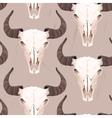 Buffalo skull seamless vector image