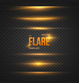 Flare Effect Transparent Overlay vector image