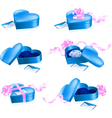 heart shape boxes vector image