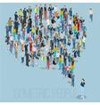 people crowd comment speech bubble vector image