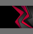 abstract contrast black red corporate background vector image vector image