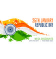 abstract style indian flag design for republic day vector image vector image