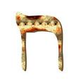 alphabet hebrew passover matzah hebrew letter het vector image vector image