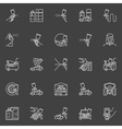 Auto painting outline icons vector image vector image
