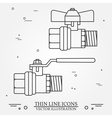 Ball valve icons thin line for web and mobile mode vector image vector image