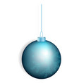 blue christmas ball icon realistic style vector image