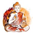buddha hand drawn grunge style art vector image