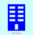 building it is color icon vector image vector image