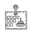 calendar icon doddle hand drawn or black outline vector image