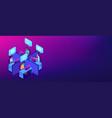 call center isometric 3d banner header vector image