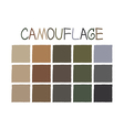 Camouflage Color Tone without Name vector image vector image
