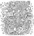 Cartoon Doodle education vector image vector image
