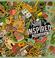 cartoon doodles art card artistic funny border vector image vector image