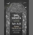 chalk baby shower invitation vector image vector image