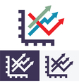 chart option icon vector image vector image
