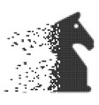 chess horse fragmented pixel icon vector image vector image