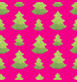 christmas tree triangle shape seamless pattern vector image vector image