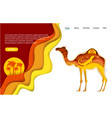 desert trip website landing page template vector image vector image