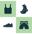 dress icons set collection of sneakers half-hose vector image vector image