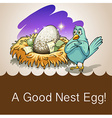 Egg in a nest with money vector image