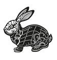 Ethnic ornamented rabbit vector image