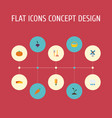 flat icons gourd windmill field and other vector image vector image