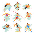 flat set of professional athletes in vector image vector image