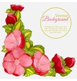 floral watercolor frame with wreath peony vector image vector image