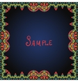 Frame border in red and green color vector image vector image