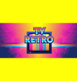 futuristic horizontal banner retro joystick vector image vector image